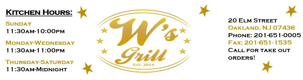 W's Grill – Restaurant, Pizza, Catering, Bar, Events in Oakland